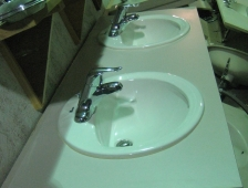 Double-Bowl Bathroom Vanity Countertop - SOLD