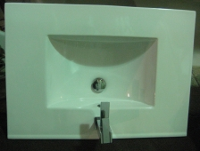 Lovely Sink with Contemporary Moen Faucet