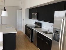 2 White Caesarstone Countertops with Stainless Steel Sink - SOLD